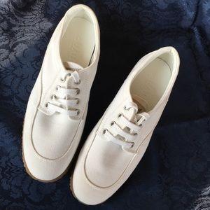 NEW HOGAN scarpa canvas sneakers white 8.5 women